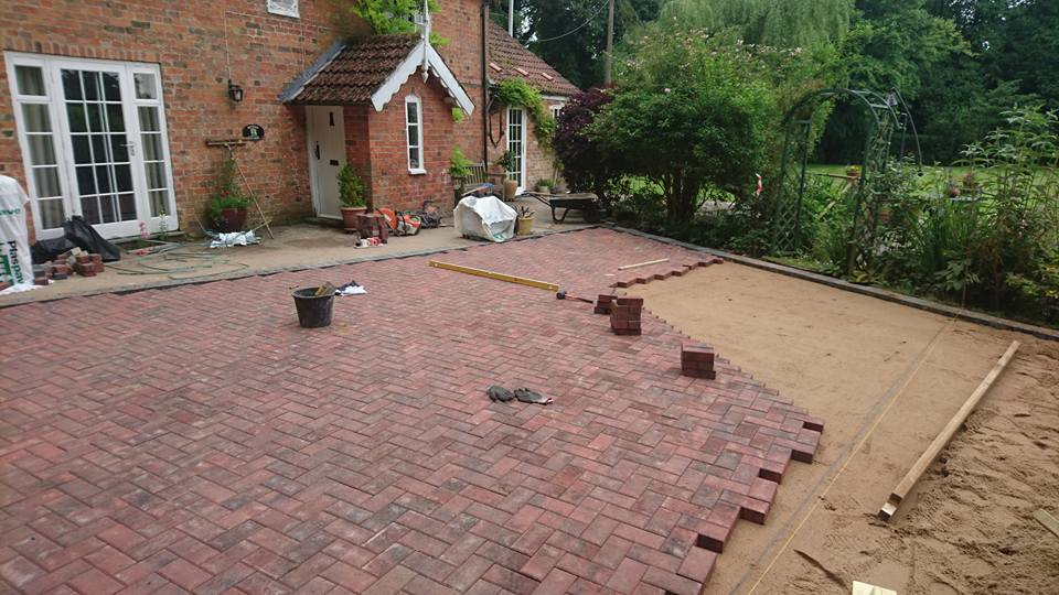 recent project for block paving in Heckington
