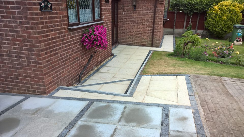 garden patios in Navenby
