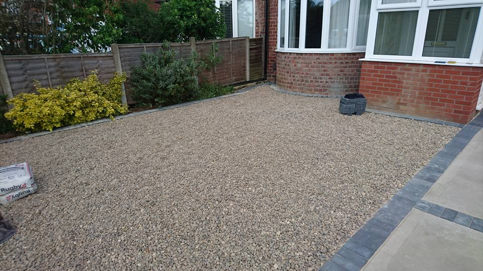 newly completed resin driveways in lincoln